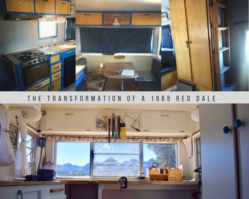 The Transformation of a 1965 Red Dale Camper From Old to Functional